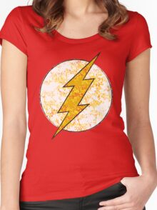 Flash - DC Spray Paint Women's Fitted Scoop T-Shirt