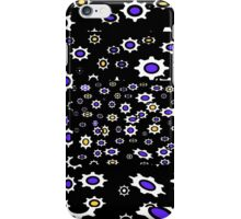 Gears black, purple and white pattern iPhone Case/Skin