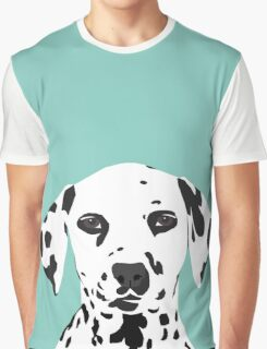 Dalmatian dog cute black and white puppy funny gift for dog owner with dalmatians  Graphic T-Shirt