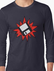 Dynamic Retro Floppy Disc old skool tech Long Sleeve T-Shirt