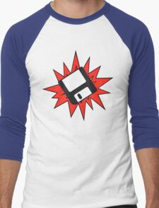 Dynamic Retro Floppy Disc old skool tech Men's Baseball ¾ T-Shirt