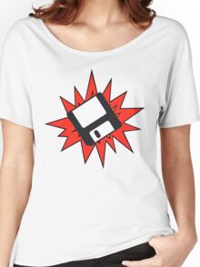Dynamic Retro Floppy Disc old skool tech Women's Relaxed Fit T-Shirt