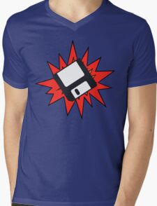 Dynamic Retro Floppy Disc old skool tech Mens V-Neck T-Shirt