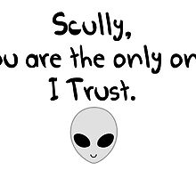Scully, you are the only one I trust.  by alwayscaskett