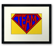 Hero, Heroine, Superhero, Super Team Framed Print