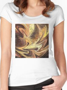 Terrestrial Flames Women's Fitted Scoop T-Shirt