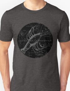 Cancer Zodiac Sign Hevelius Circa 1690 T-Shirt