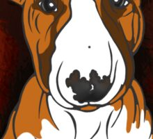 Tricolour English Bull Terrier  Sticker