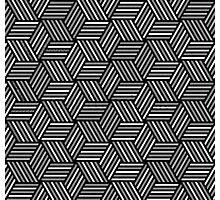 crazy pattern - cube Photographic Print