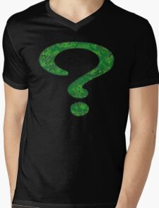 Riddler - DC Spray Paint Mens V-Neck T-Shirt