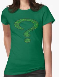Riddler - DC Spray Paint Womens Fitted T-Shirt