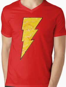 Shazam - DC Spray Paint Mens V-Neck T-Shirt