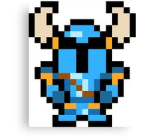 Pixel Shovel Knight Canvas Print