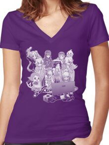 Smash Night Women's Fitted V-Neck T-Shirt