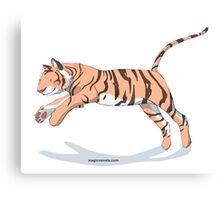 Magic Novels Jumping Tiger Canvas Print