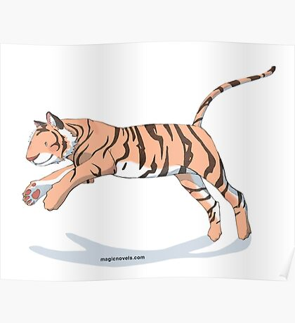 Magic Novels Jumping Tiger Poster