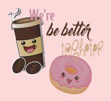 cOFFEE & dONUT Kids Tee