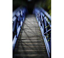 blue crossing Photographic Print