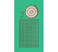 Retro geek Gumby green Transistor Radio design Photographic Print