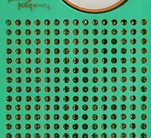 Retro geek Gumby green Transistor Radio design Sticker