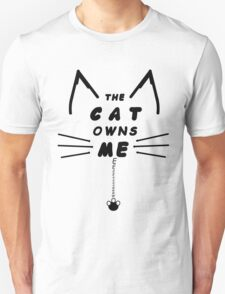 Cat Owns Me - Black T-Shirt