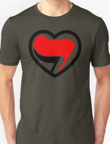 Hei! Antifa heart! T-Shirt
