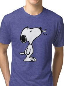 Snoopy Spitting Tri-blend T-Shirt