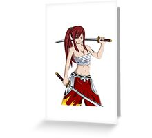 Fairy Tail - Erza Scarlet Greeting Card