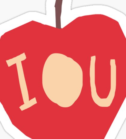BBC Sherlock - IOU symbol Sticker