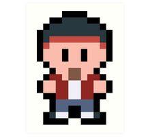 Pixel Jesse Pinkman Art Print