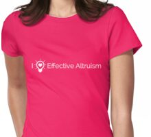 I Heart Effective Altruism (White) Womens Fitted T-Shirt