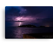 Lightning Stikes Canvas Print