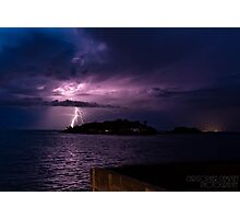 Lightning Stikes Photographic Print