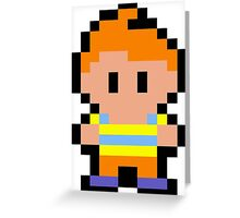 Pixel Claus Greeting Card