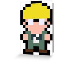 Pixel Jeff Greeting Card
