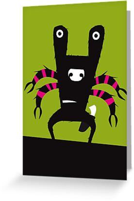 Green Larry Monster by David Wildish