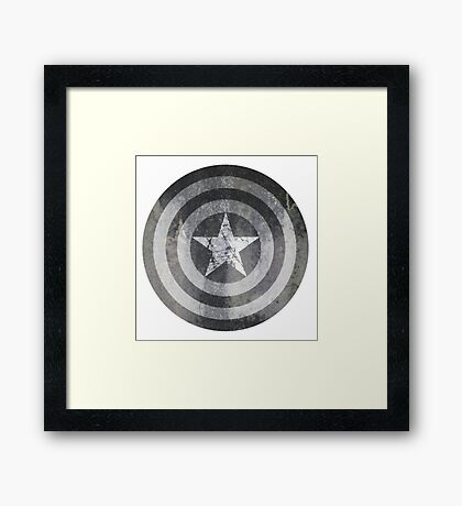 Grey America Framed Print