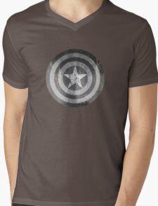 Grey America Mens V-Neck T-Shirt