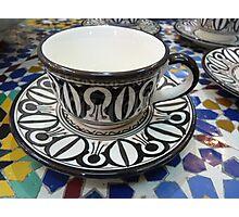 Morocco - a cup Photographic Print