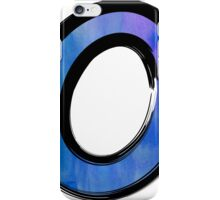 Watercolor - O - blue iPhone Case/Skin