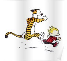 Calvin And Hobbes runner time Poster