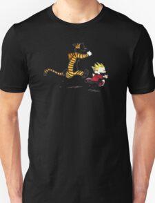 Calvin And Hobbes runner time Unisex T-Shirt