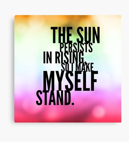The Sun Persists Canvas Print