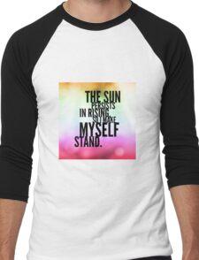 The Sun Persists Men's Baseball ¾ T-Shirt