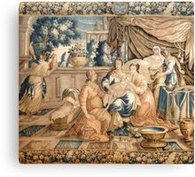 Birth of the Virgin Mary Aubusson Tappeti Tapestry tapestry 18th century Marie Born Canvas Print