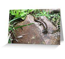 Lazy Lizard Greeting Card
