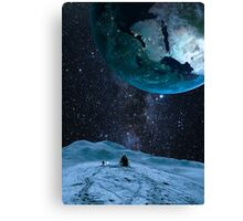 Looking up at earth Canvas Print