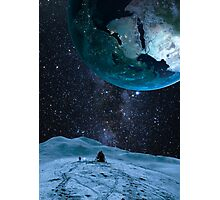 Looking up at earth Photographic Print