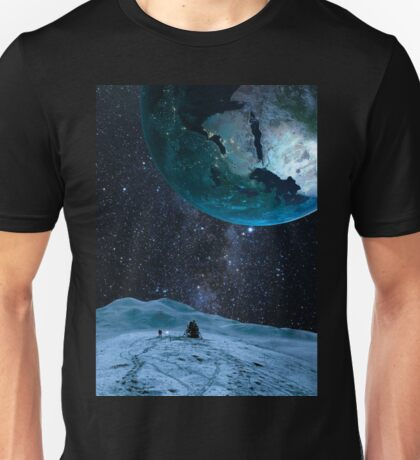 Looking up at earth Unisex T-Shirt