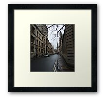 Streets of Oxford Framed Print